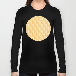 3D Optical Illusion Pattern: Yellow Dodecahedron Long Sleeve T-shirt