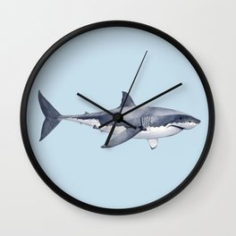WHITE SHARK Wall Clock