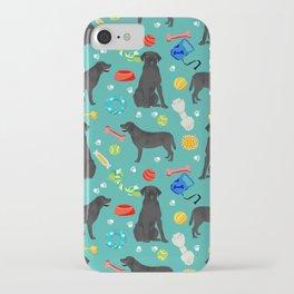 Black Lab dog toys cute dog breeds black labrador retriever gifts pet friendly iPhone Case