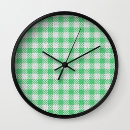 Emerald Buffalo Plaid Wall Clock