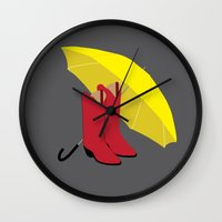 himym Wall Clocks featuring HIMYM Couples - Ted & Mother by Raye Allison Creations