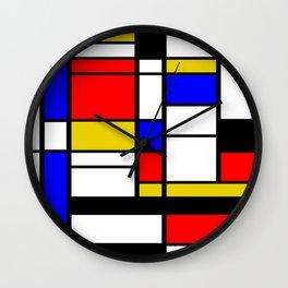 Art work inspired to P. Mondrian (n.1) Wall Clock