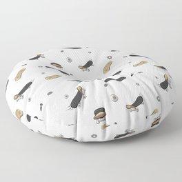 Skateboard pattern Floor Pillow