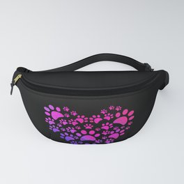 Animal Paws Heart print For Dog Lovers Fanny Pack