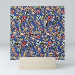 Sarong Kebaya Batik Blue Mini Art Print