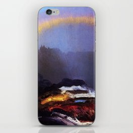 Early Morning Coastal Fog & Rainbow landscape painting by George Wesley Bellows iPhone Skin