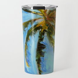 Akumal Palm Tree Painting Travel Mug