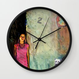 Bearing Witness Two False Idols Wall Clock