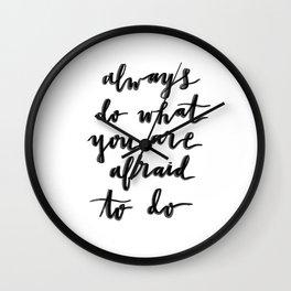 Facing Fears Wall Clock