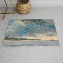 "John Constable ""Coastal Scene with Cliffs"" Rug"