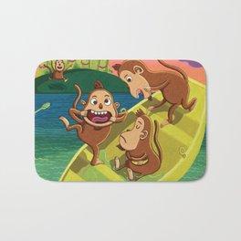 Monkeys on a Boat Bath Mat