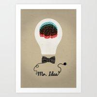 MR. IDEA Art Print
