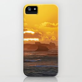 Sunset Over Bay of Martyrs. iPhone Case