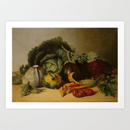 James Peale - Still Life With Vegetables Art Print