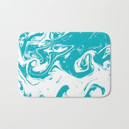 Gesshin - spille dink turquoise japanese watercolor painting topography map landscape water ocean Bath Mat