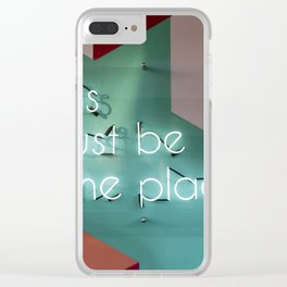 Right Here Clear iPhone Case