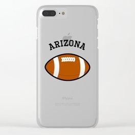 Arizona American Football Design black lettering Clear iPhone Case