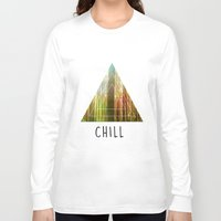 chill Long Sleeve T-shirts featuring Chill  by Corentin Mas