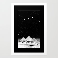 The Pyramids of Giza Art Print