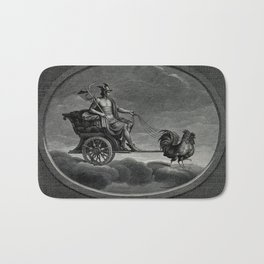 C Lasinio, after Raphael - Mercury with his Caduceus in his Chariot, Drawn by Cockerels Bath Mat