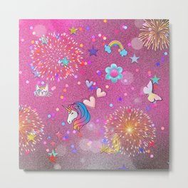 Some Cuteness 2,pink Metal Print