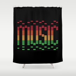 Music Equalizer Shower Curtain