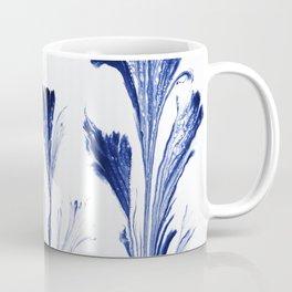 Painted Flowers In Blue Coffee Mug