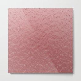 rose gold foil texture Metal Print