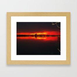 fire sky in hopewell Framed Art Print
