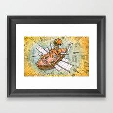 Atlantis Flying Ship #1 Framed Art Print