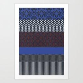Multipattern 6 Art Print