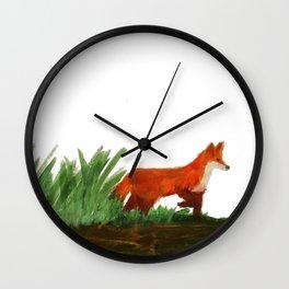 Emerging fox Wall Clock