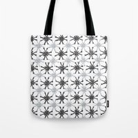 mid century modern Tote Bags featuring Mid Century Modern #1 by Bird Junker