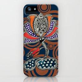 Madhubani - Lotus Fish 2 iPhone Case
