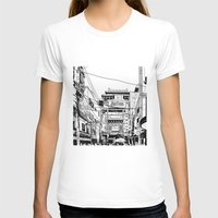 china T-shirts featuring Yokohama - China town by parisian samurai studio