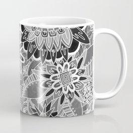Chalkboard Flowers (Night Version) Coffee Mug