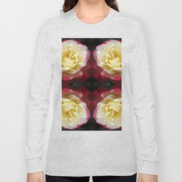 141 - Abstract Flowers Long Sleeve T-shirt