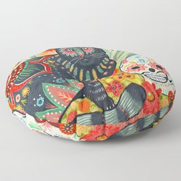 Dia De Los Muertos Cat Floor Pillow