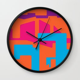 LINES AND TROUBLES Wall Clock