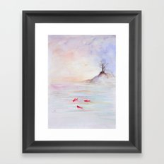 Red fish Framed Art Print