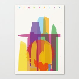 Shapes of Singapore. Canvas Print
