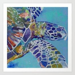 Honu Kauai Sea Turtle Art Print