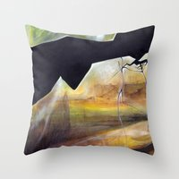 mirror Throw Pillows featuring mirror by Andreas Derebucha