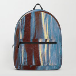 Dawn in the Winter Forest   Landscape Mood Painting Backpack