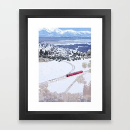 One winter day Framed Art Print