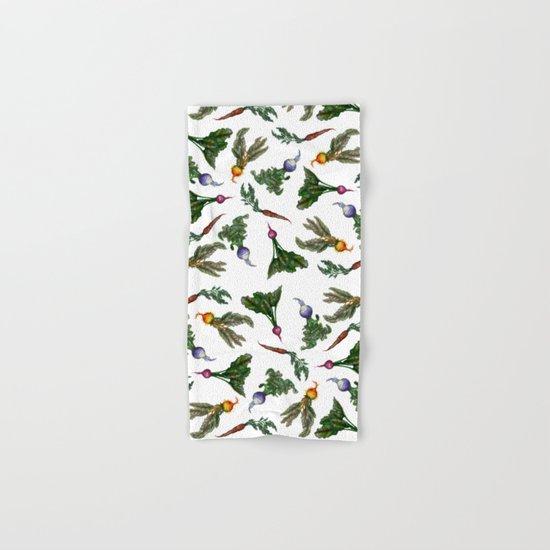 Watercolor Veggies Hand & Bath Towel