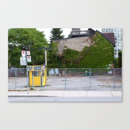 Pay Here Canvas Print