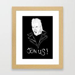 Join Us !! Framed Art Print
