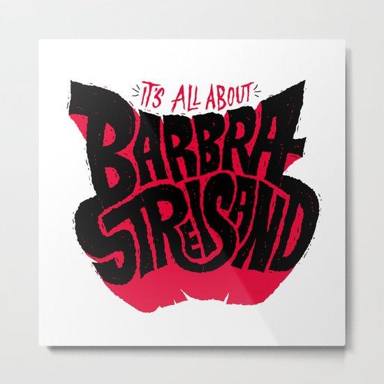 Barb's Climate Conspiracy Metal Print