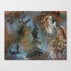 Rome Statues with color Canvas Print